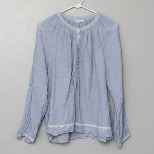Lucky Brand Cotton light blue blouse